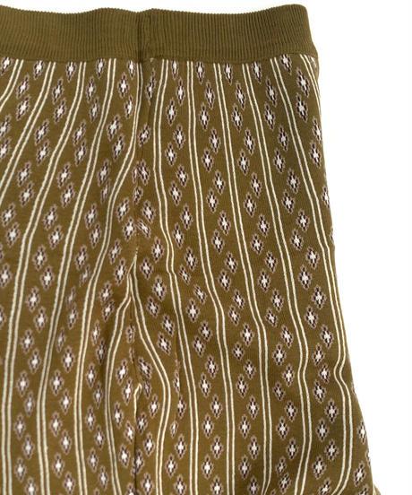 Jacquard knit pants〈20-220234〉