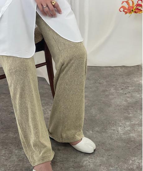 Color Rib Pants〈20-220272〉