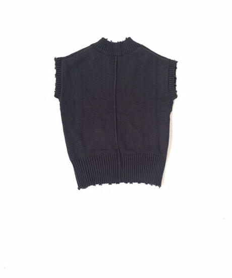 Damage Knit Vest〈21-550152〉