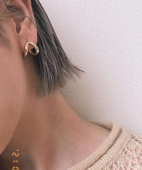 Double Line Pierce Earrings〈21-910132〉