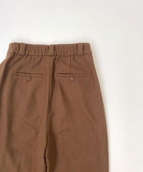 Wool  Tuck  Trousers〈21-220149〉