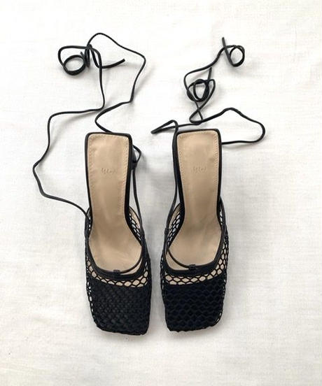 Mesh Lace Up Sandal〈20-940037〉