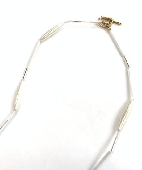 Pearl Pipe Necklace〈21-910060〉