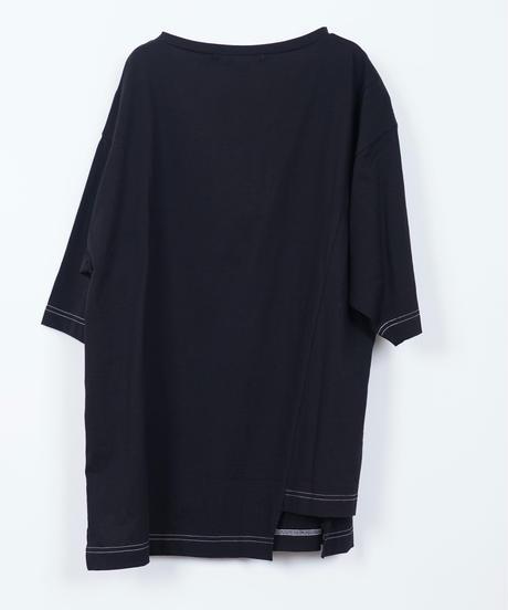 63411053 _ アーチロゴ切り替えTシャツ