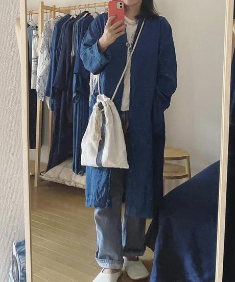 リネンコート 淡藍染 40号