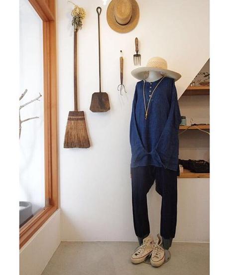 ノラふくプルオーバーシャツ 濃藍染