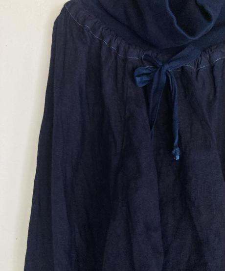 ノラふくパンツ 濃藍染