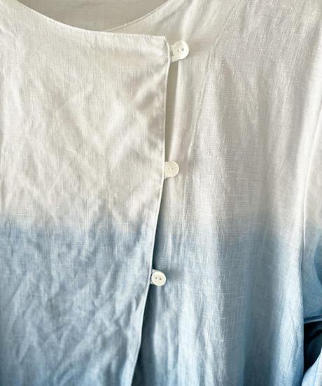 ノラふくチュニックドレス・白グラデーション