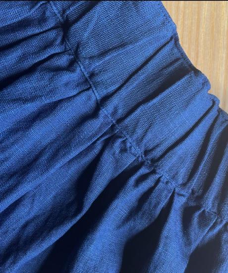 Newリネンスカート 淡藍染