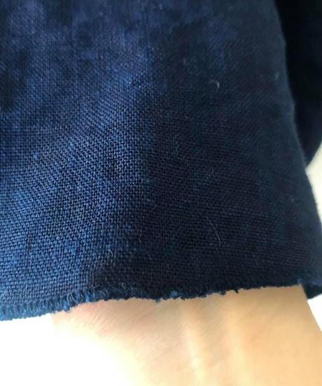 Newリネンスカート 濃藍染