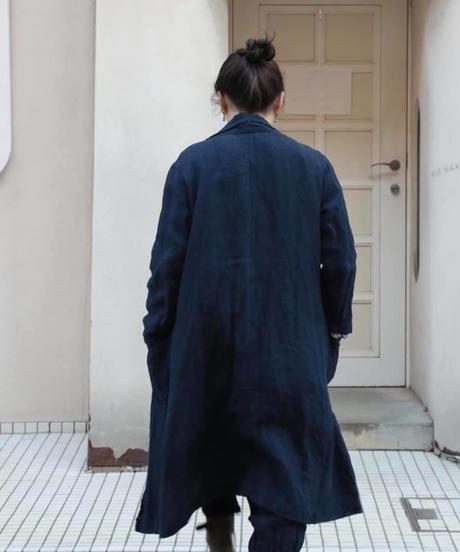 リネンコート 淡藍染 38号