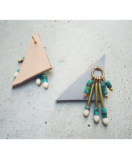 Leather Beads Charm Earrings