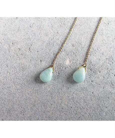 Amazonite Chain Earrings