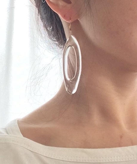Narrow Oval earrings (Clear)