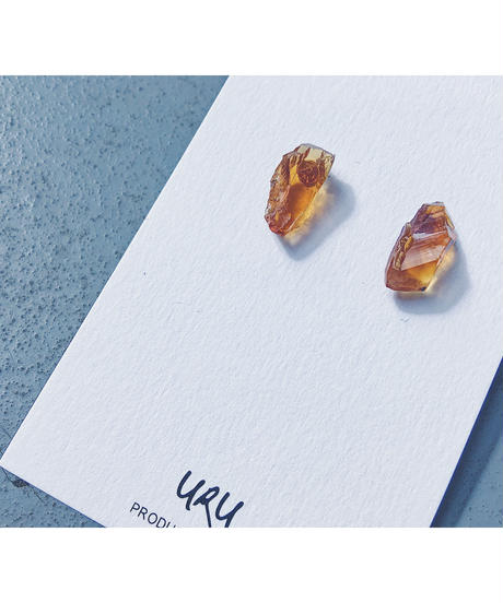 Citrine stone earrings