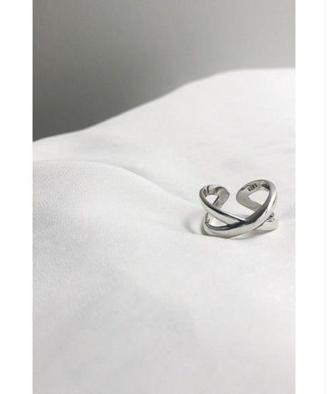 silver925 Crossing ring