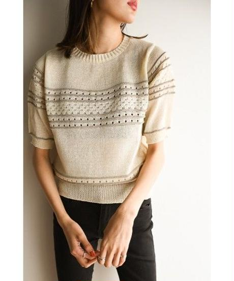 <再入荷>See through knit