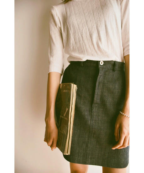 <再入荷>denim skirt