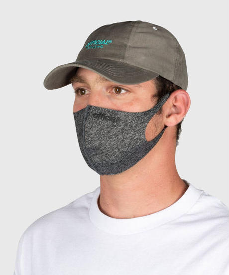 OFFICIAL 3 Pack - Nano-Polyurethane Face Mask (Heather Grey) オフィシャル  3P / 1パック マスク