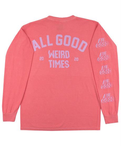 All Good Weird Times Longsleeve Shirt - Watermelon