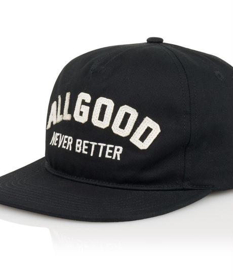 ALL GOOD Buckeye HAT AGNB CAP - BLACK