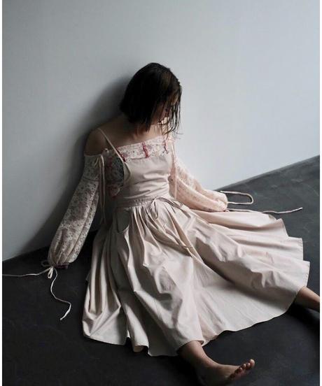 "apron dress ""JEANDREE"" /Pink"