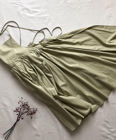 "apron dress ""JEANDREE""  /Green"