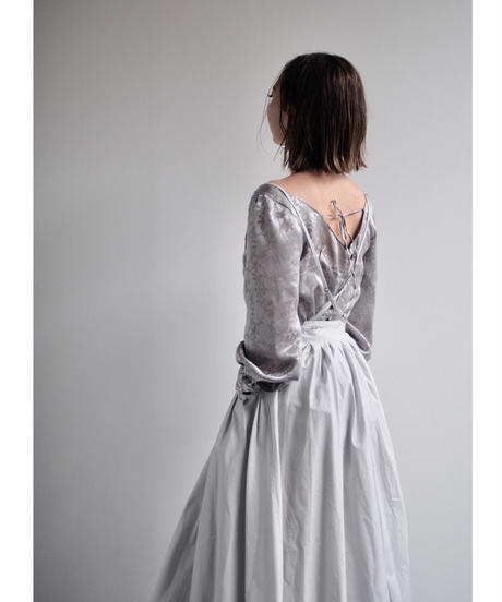 "apron dress ""JEANDREE"" /Silver Grey"