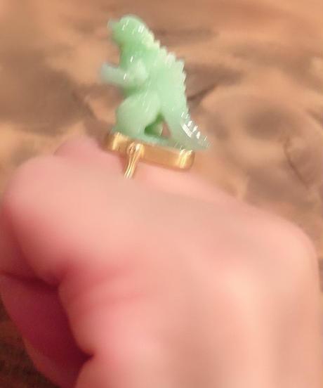 Himaジェムパレス  10号 クリソプレーズ怪獣リング