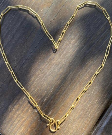 22k gold チェーンリンク ネックレス