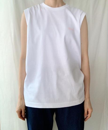 ◆送料無料◆ MNG! ロゴスリーブレスT  ホワイト S (unisexsize)