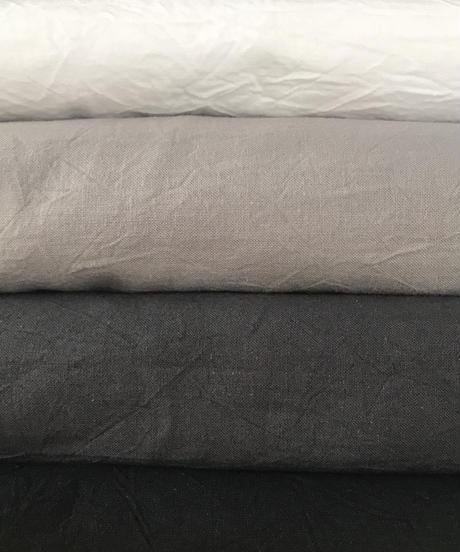 ホソヒモエプロン  ロング クロス(ホワイト/グレー/チャコール/ブラック)(NEWブラウン/ スモーキーグレー)