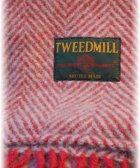 ◇ TWEED MILL ◇ ポケット付きウールブランケットストール