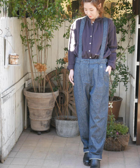 ◇ubasoku◇ サスペンダー付きタックパンツ