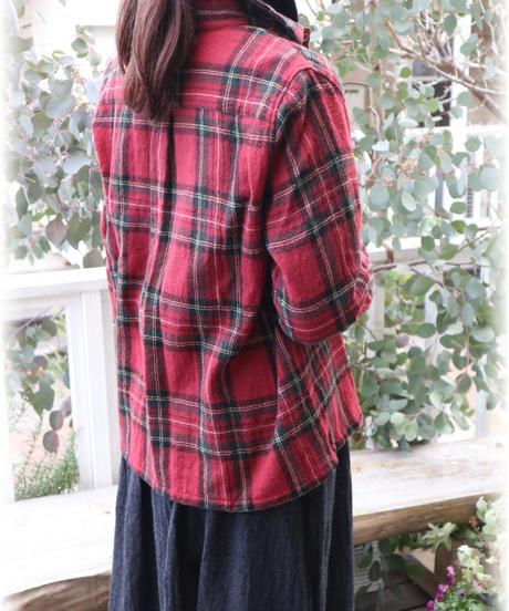 ◇ ichi ◇ ウールガーゼチェックシャツ