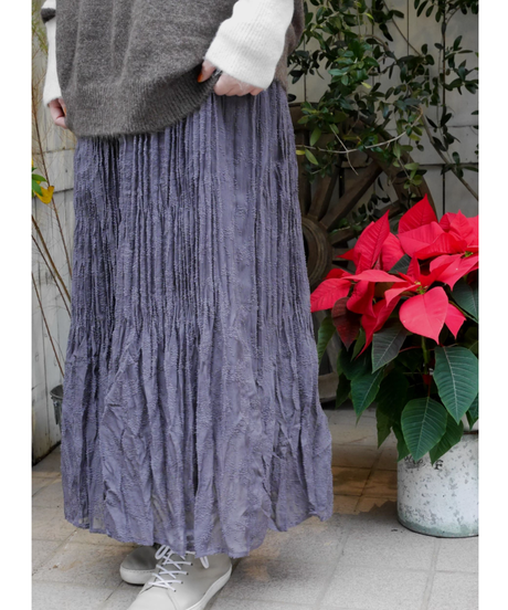 楊柳シフォンプリーツスカート