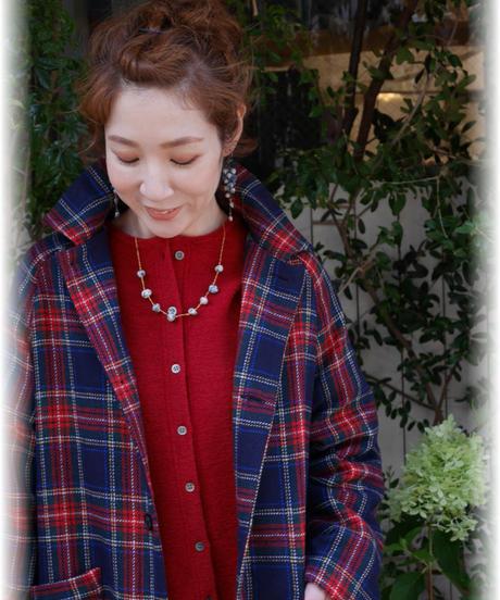 ◇ ichi ◇ ツイードチェックコート