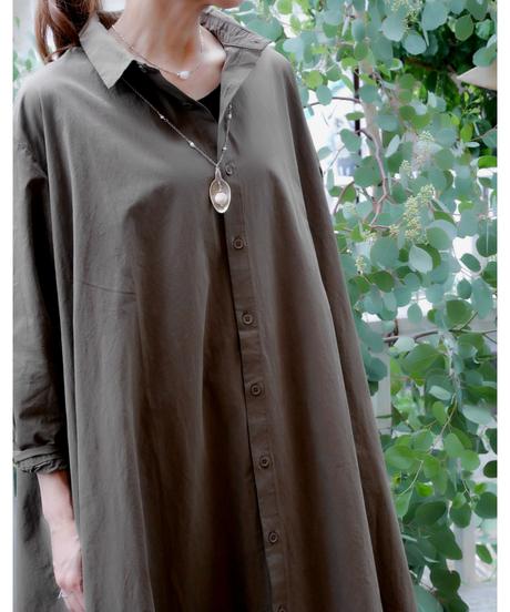 ◇ コットンハイカウントツイルシャツワンピース ◇