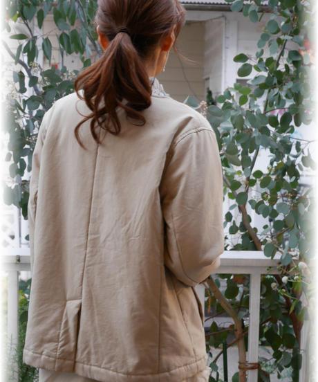 ◇ ichi ◇ テンセルツイル中綿入りジャケット