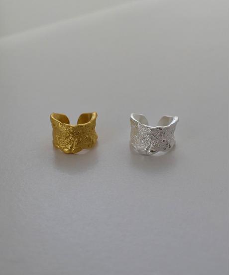 earcuff-a02020  SV925  Crumple Wide  Earcuff