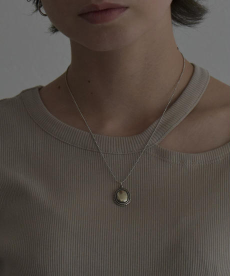 necklace-a02011 SV925 Concho Top Ball Chain Necklace