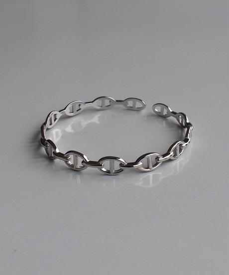 brace-a02013 SV925  Dark  Chain  Bangle