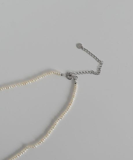 necklace-a02069  SV925 Minimum Baroque  Pearl  Necklace