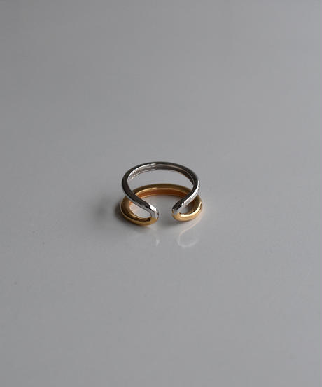 ring-a02090  SV925  Bycolor 2Line Ring