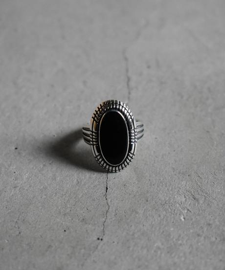 ring-a02068  SV925  Black  Concho  Ring
