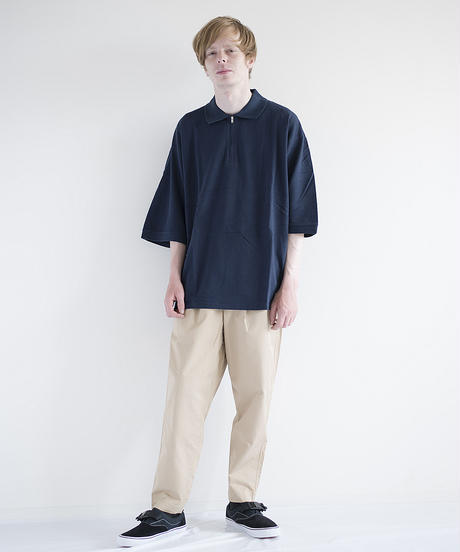 VOTE MAKE NEW CLOTHES / HALF-ZIP BIG POLO SHIRT / 18SS-0090AB