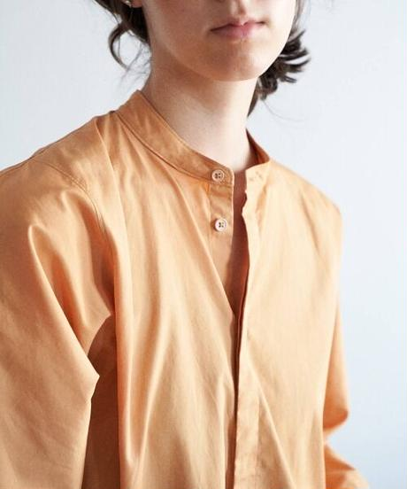 unfil アンフィル / washed cotton-poplin oversized shirt / WOSP-UW116