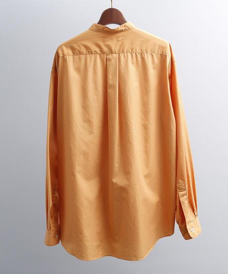 unfil アンフィル / washed cotton-poplin band collar shirt / WOSP-UM212