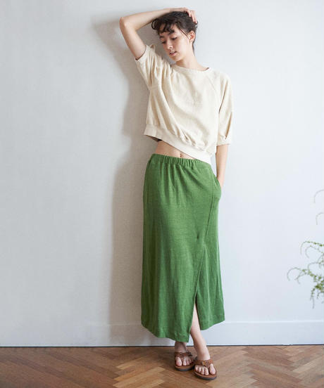 unfil アンフィル / vintage cotton-pile cropped top / WOSP-UW123