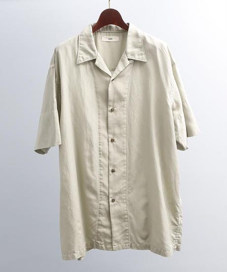 unfil アンフィル / cotton & silk-twill short sleeve shirts / WOSP-UW126